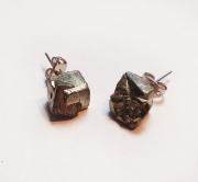 Fool's Gold (Iron Pyrite) Studs